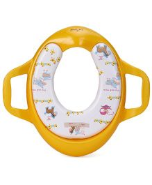 1st Step Padded Potty Seat With Handles Animal - Yellow