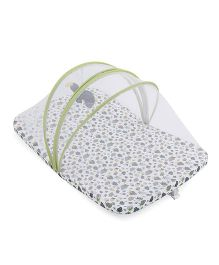 Babyoye Strawberry Print Bed With Net - Off White
