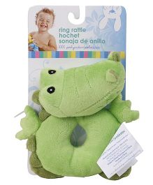 Honey Bunny Ring Rattle - Green