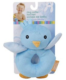 Honey Bunny Ring Rattle - Blue