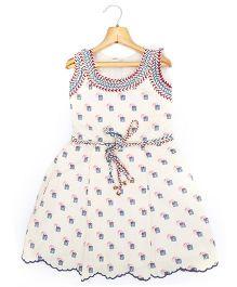 Marshmallow Kids Couture Smart Princess  Dress - Light Beige