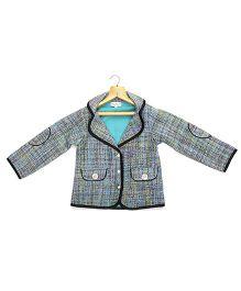 Marshmallow Kids Couture Elegant Jacket - Blue & Multicolour