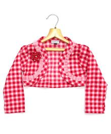Marshmallow Kids Couture Smart Shrug - Pink & Red