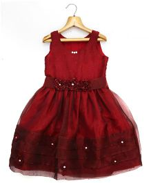 Marshmallow Kids Couture Smart Princess  Dress - Maroon