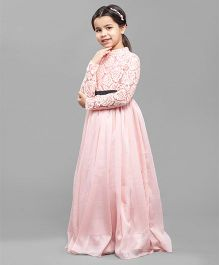 One Friday Girls Long Dress - Pink