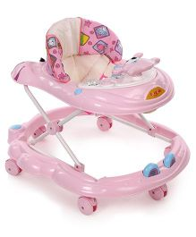 Toyzone Musical Baby Walker Seat Animal Print - Pink