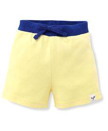 Pinehill Contrast Waistband Shorts - Yellow & Blue