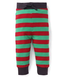 Pinehill Striped Track Pants With Drawstring - Red & Green
