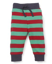 Pinehill Full Length Striped Track Pants - Red Green