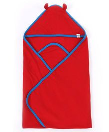Pinehill Hooded Blanket - Red And Blue