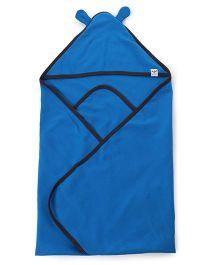 Pinehill Hooded Blanket - Blue And Black