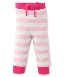 Pinehill Track Pants Stripes Print - White And Pink