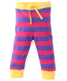 Pinehill Track Pant Stripes Print - Yellow Purple Pink