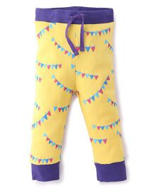 Pinehill Track Pant Banner Print - Yellow Purple