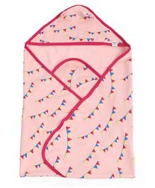 Pinehill Printed Hooded Blanket - Pink