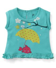 Pinehill Sleeveless Top Fish Print - Green