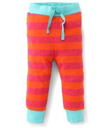 Pinehill Track Pants Stripes Print - Orange Pink