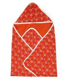 Pinehill Printed Hooded Blanket - Orange