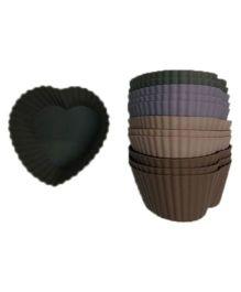 Wonderchef Silicone Heart Cupcake Mould - Multicolour