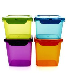 Wonderchef Poplock Neon Pack Of 4 Containers - Multicolour