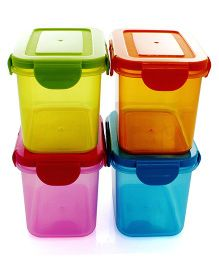Wonderchef Poplock Neon Pack Of 4 Container - Multicolour