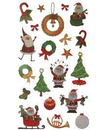 X'Mas By Shopaparty Christmas Celebration Tattoo Stickers 2 Sheets - Multicolour