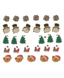 X'Mas By Shopaparty Merry X'Mas Nail Stickers 2 Sheets - Multicolour