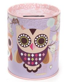 Owl Printed Coin Bank - Color and Print May Vary