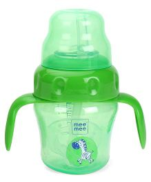 Mee Mee 2in1 Spout & Straw Sipper Cup Green - 150 ml
