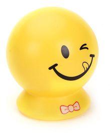 Smiley Printed Coin Bank - Yellow