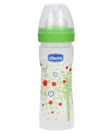 Chicco Wellbeing Feeding Bottle Green - 250 ml