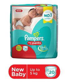 Pampers Pant Style Diapers Light And Dry New Baby - 20 Pieces