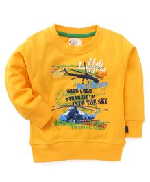 Olio Kids Sweatshirt Helicopter Print - Yellow
