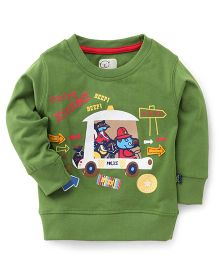 Olio Kids Full Sleeves Sweatshirt Printed - Green