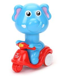 Smiles Creation Toy Elephant On Scooter - Red Blue
