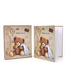 Bear Print Photo Album - Brown