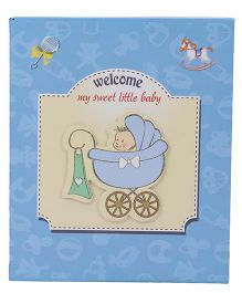 Boy With Baggi Printed Photo Album - Sky Blue