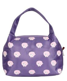 EZ Life Sheep Print Kids Thermal Lunch Bag - Purple