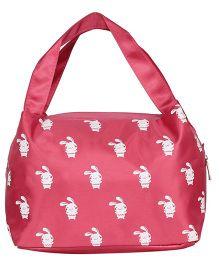 EZ Life Rabbit Print Kids Thermal Lunch Bag - Pink