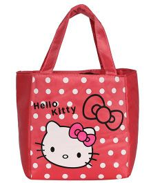 EZ Life Kitty Print Kids Thermal Lunch Bag - Red