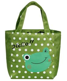 EZ Life Frog Print Kids Thermal Lunch Bag - Green