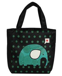EZ Life Elephant Print Kids Thermal Lunch Bag - Blue