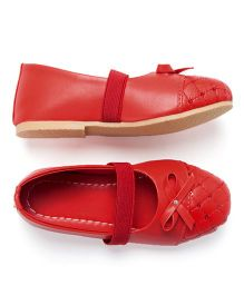 LCL Pretty Ballerina Bellies With Bow - Red