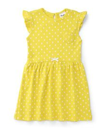 Playbeez Polka Dot Print Dress - Yellow