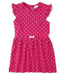 Playbeez Polka Dot Print Dress - Pink