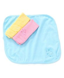 Simply Napkins Bunny Embroidery Pack Of 3 - Pink Yellow Blue
