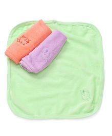 Simply Napkins Chick Embroidery Pack Of 3 - Peach Lavender Green