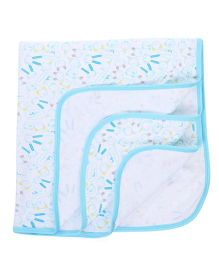 Simply Wrapper Bunny Print - Blue