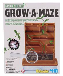 4M Kidz Labs Green Science Grow-A-Maze - Brown