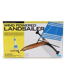 4M Science in Action Wind Powered Landsailer - Blue